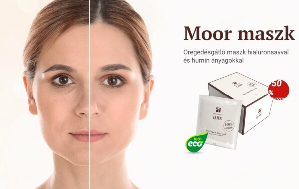 Moor Mask Elier, arcmaszk, anti-aging, ráncok