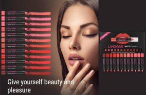 Langmanni Matte Lipstick Set -12 részes természetes vízálló toll szépségkészlet!